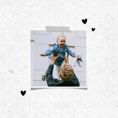 Fotokaart jij bent de beste papa grafisch 2