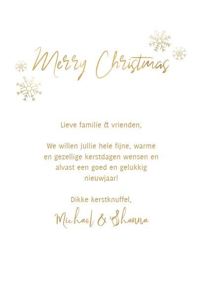 Fotokaart kerst boompjes, sneeuwvlokken en 'Merry Christmas' 3