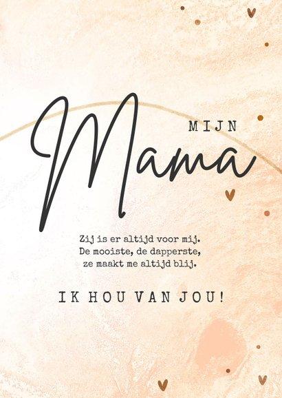 Fotokaart Mama ik hou van jou stijlvol met foto en hart 3