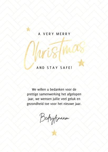 Fotokaart Merry Christmas, gouden sterren en patroon 3