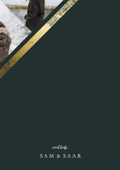 Fotokaart met collage schuin met gouden rand 3