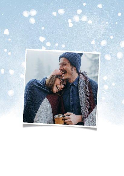 Fotokaart met een koperkleurige Fijne Kerst 2