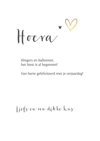 Fotokaart met goud hartjes eenvoudig en stijlvol 3