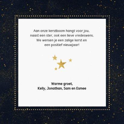 Fotokaart met gouden cirkel en typografie 3