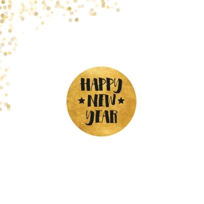 Fotokaart met gouden confetti en cirkel 2