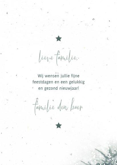 Fotokaart met kerstbomen en sneeuw 3