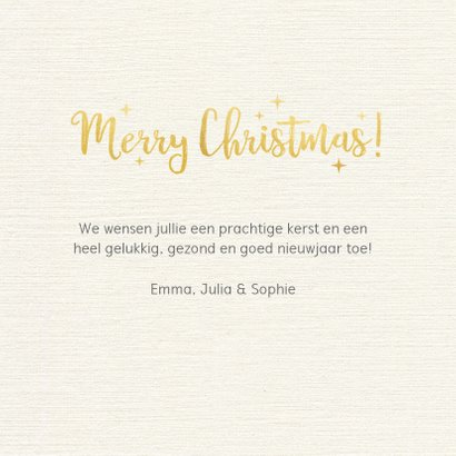 Fotokaart met kerstcollage met 6 foto's en goud 3