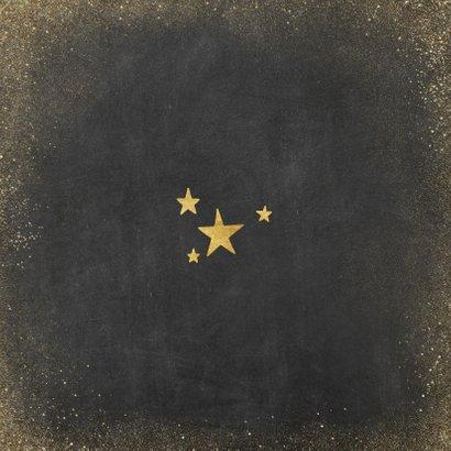 fotokaart met polaroids en gouden slingers Achterkant