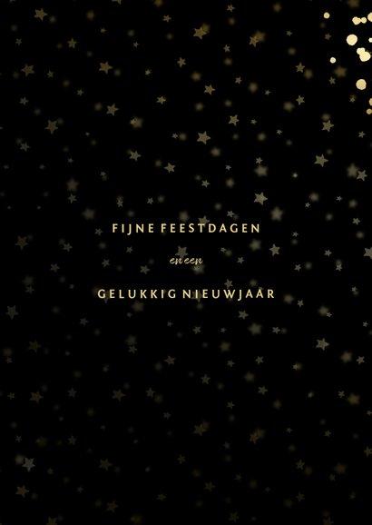 Fotokaart met sterren, foto en gouden confetti 3