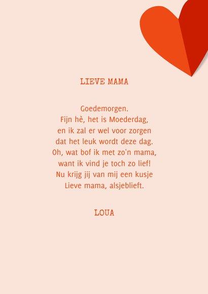 Fotokaart moederdag met rode harten op roze achtergrond 3