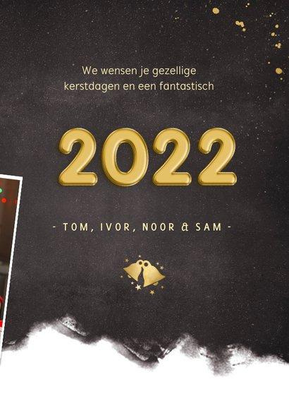 Fotokaart nieuwjaarskaart fotocollage met polaroids en 2022 3