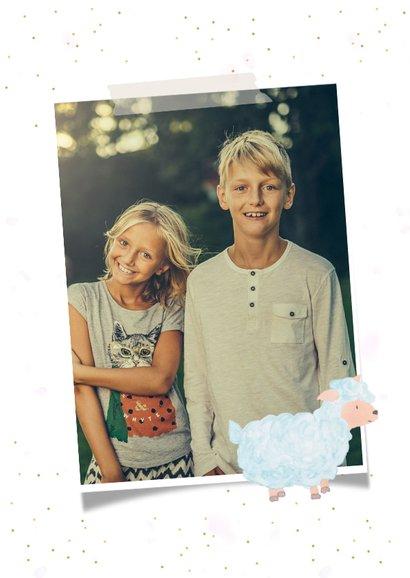 Fotokaart pasen met ruimte voor 3 eigen foto's 2