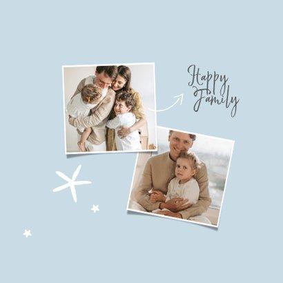 Fotokaart persoonlijke fotocollage met sterren 2