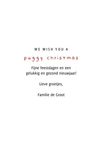 Fotokaart puggy christmas humor met confetti 3