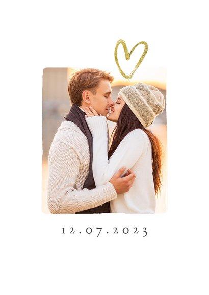 Fotokaart save the date goud sterren hartje fotocollag 2