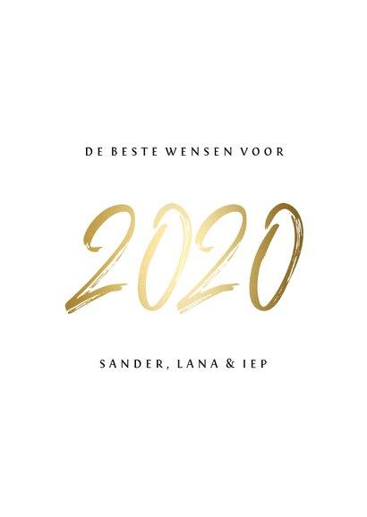 Fotokaart stijlvol '2020' goud 3