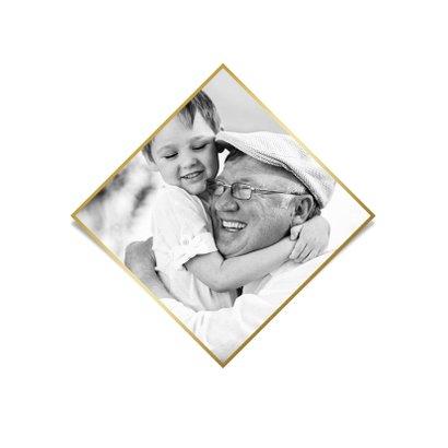 Fotokaart stijlvol dikke knuffel goud hartjes 2