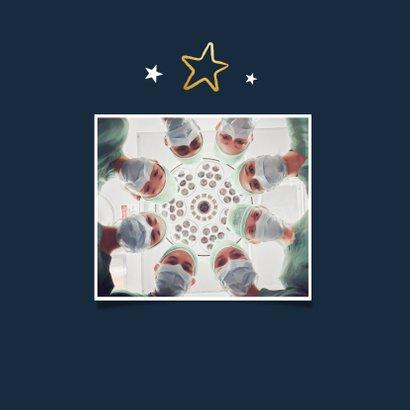 Fotokaart topper ster fijne feestdagen zorg bedankt 2