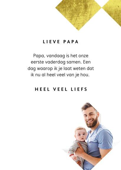 Fotokaart vaderdag eerste vaderdag papa goud stijlvol 3
