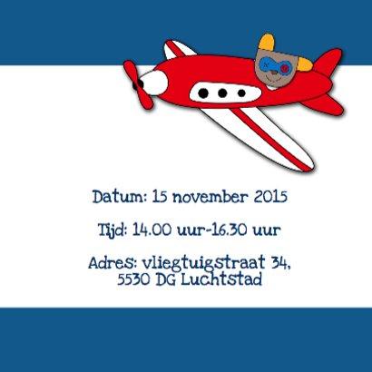 Fotokaart vliegtuig met Bikkel 3