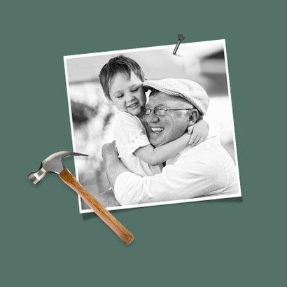 Fotokaart voor opa klussen hout stoer foto's 2