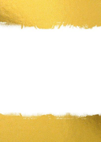 Fotokaart zakelijk met goud kader & foto's Achterkant