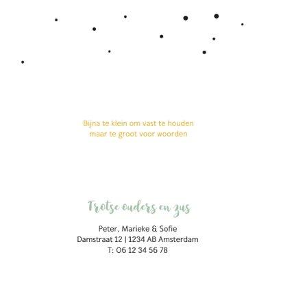 Fotokaartje met confetti en zwart hartje 2