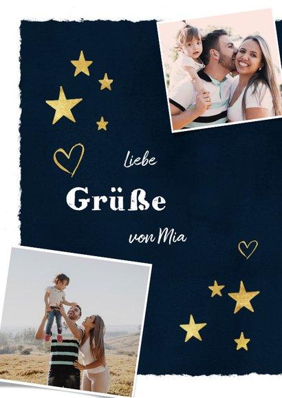 Fotokarte als Grußkarte Herzen & Sterne 2