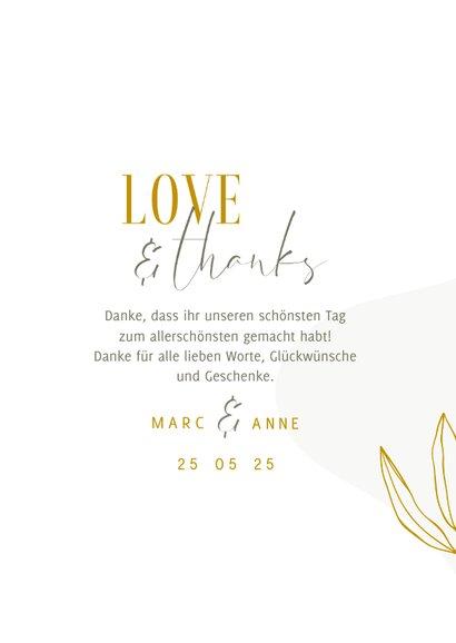 Fotokarte Danksagung Hochzeit elegant & abstrakt 3