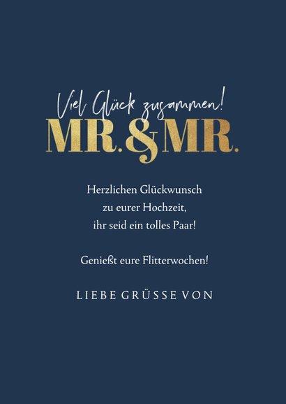 Fotokarte Glückwunsch Hochzeit Mr. & Mr. 3