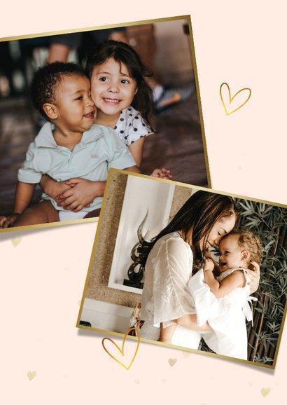Fotokarte zum Muttertag mit kleinen Herzen 2