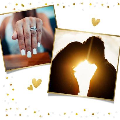 Fotokarte zur Hochzeit Save-the-Date Goldtext 2