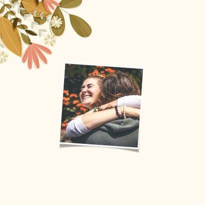 Freundschaftskarte Blumen aus dem Umschlag 2