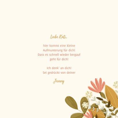 Freundschaftskarte Blumen aus dem Umschlag 3