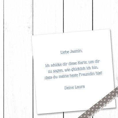 Freundschaftskarte Holzlook mit Foto und Herz 3