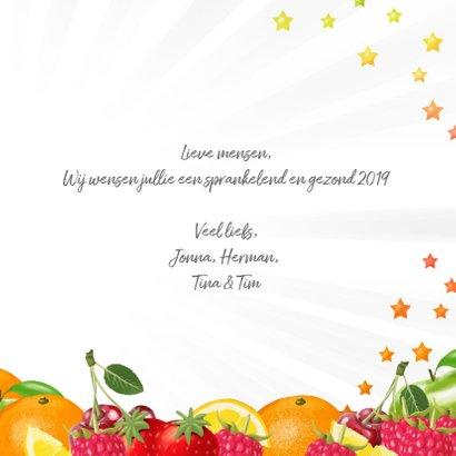 Fris en fruitig 2019 nieuwjaarskaart 3