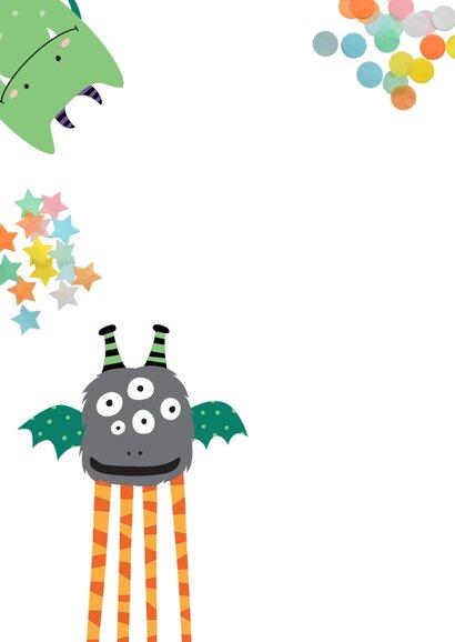 Fröhliche Monstereinladung zum Kindergeburtstag 2
