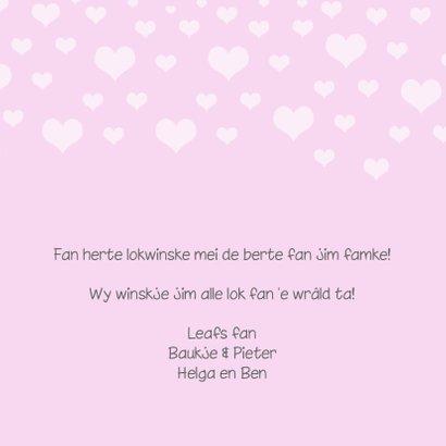 Fryske felicitatie kaart geboorte famke 3