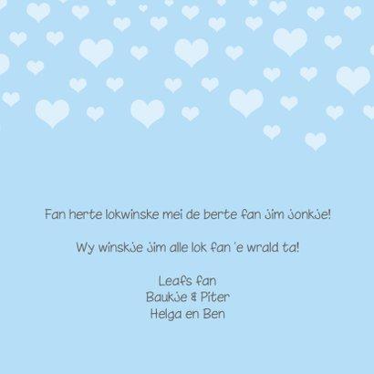 Fryske felicitatie kaart geboorte jonkje 3
