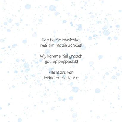 Fryske felicitatiekaart - Berne in leaf lyts jonkje 3