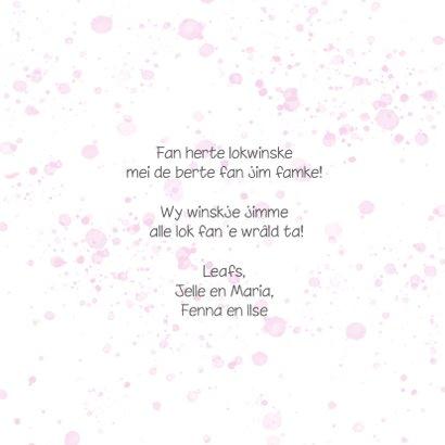Fryske felicitatiekaart, famke 'Berne in leaf lyts' 3