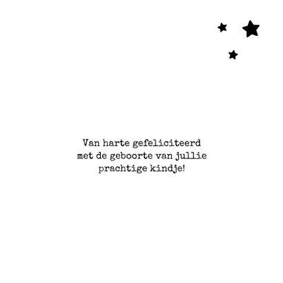Fryske felicitatiekaart geboorte wolk 3