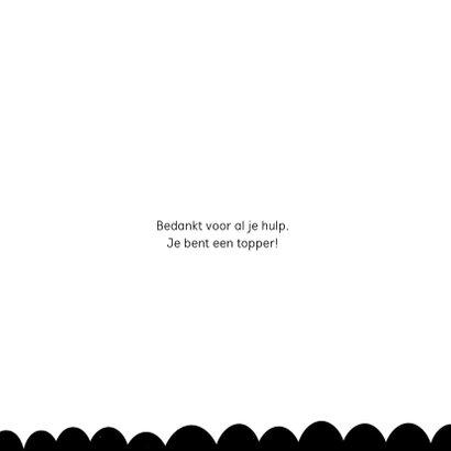 Fryske kaart zwart wit kraft 'Tige tank' 3