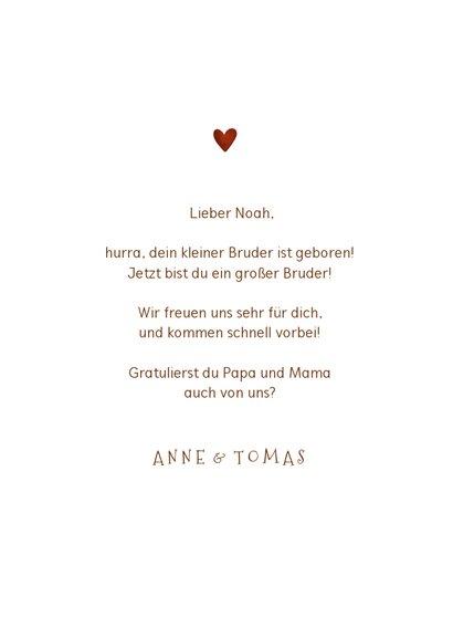 Fuchs-Glückwunschkarte Geburt Bruder/Schwester 3