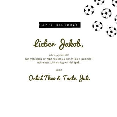Fußball Geburtstagskarte 3