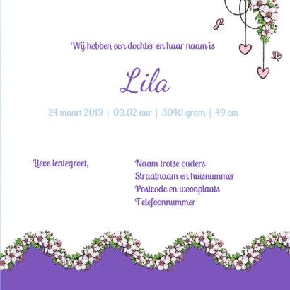 Geboorte bloesem lente lila - IH 3