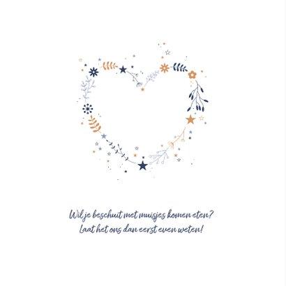 Geboorte - Botanisch hart met sterren 2