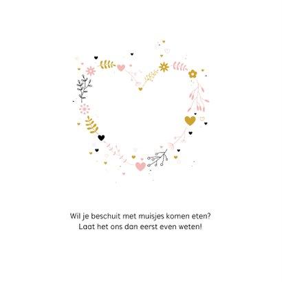 Geboorte - Botanisch hart met stipjes 2