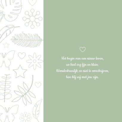 Geboorte - Botanische illustraties jongen 2