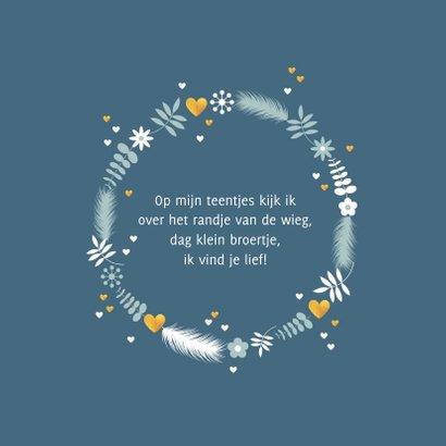 Geboorte cirkel met bloemen, takjes en hartjes 2